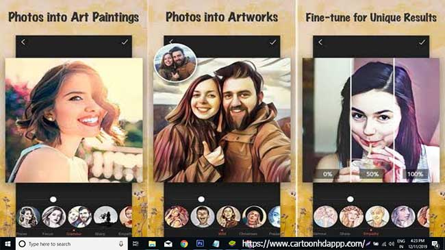 Cartoon photo filters for PC Windows 10/8/7