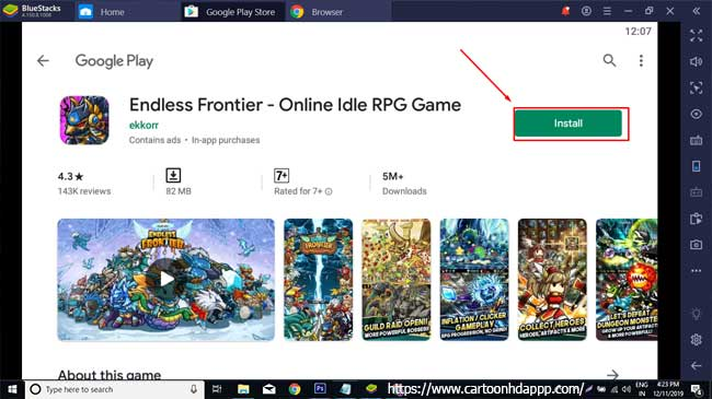 Endless frontier for PC Windows 10/8/7 Free Install