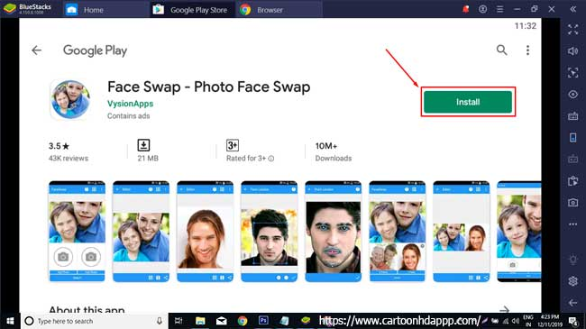 Face Swap for PC Windows 10/8/7 Free