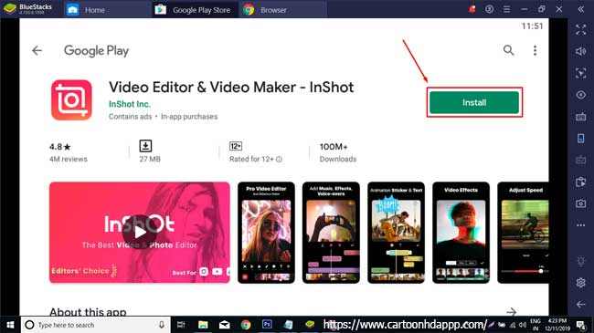 InShot for PC Windows 10/8/7 Free Install