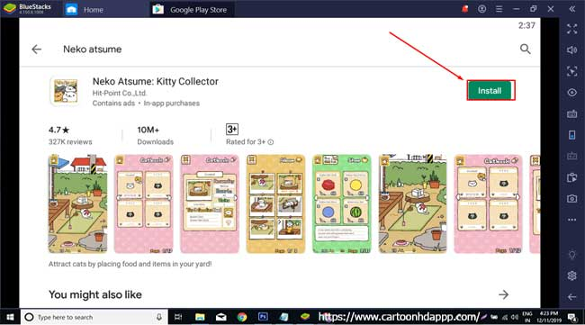 Neko atsume for PC Windows  10/8/7 Free