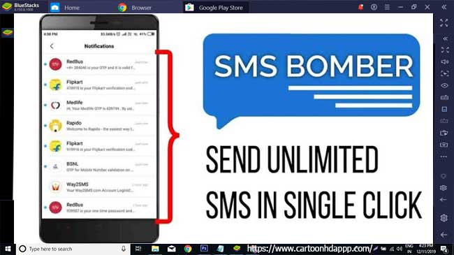 SMS bomber for PC Windows 10/8/7 Free Install