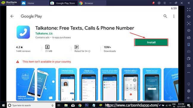 Talkatone for PC Windows 10/8/7 Free