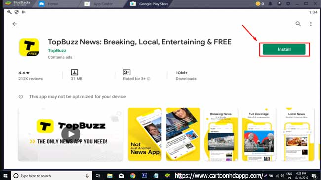 Top Buzz for PC Windows 10/8/7  Free Install