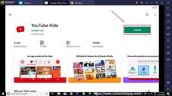 YouTube Kids For PC Windows 10/8/7 Free
