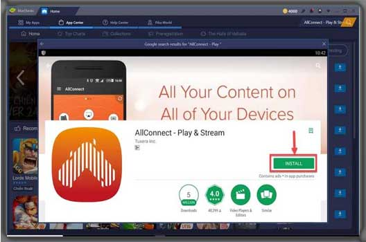 Install AllConnect for PC Windows 10/8/8.1/7