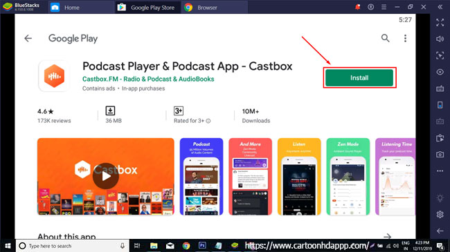 Castbox for PC Windows 10/8/7 Free