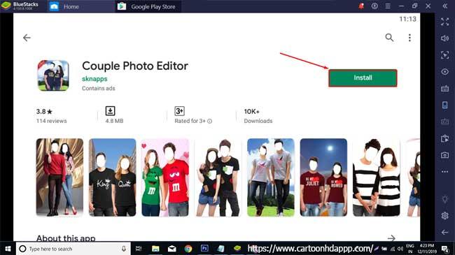 Couple photo editor for PC Windows 10/8/7  Free
