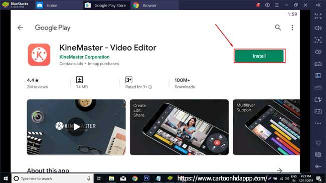 KineMaster for PC Winodws 10/8/7 Free Install