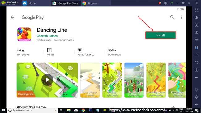 Dancing Line For PC Windows 10/8.1/8/7/XP/Vista & Mac Free