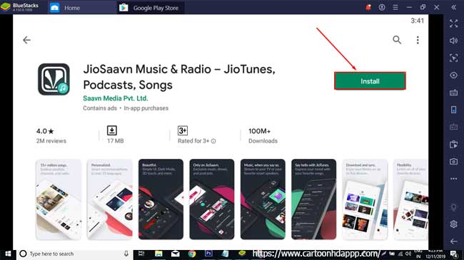 JioSaavn Music & Radio For PC Free