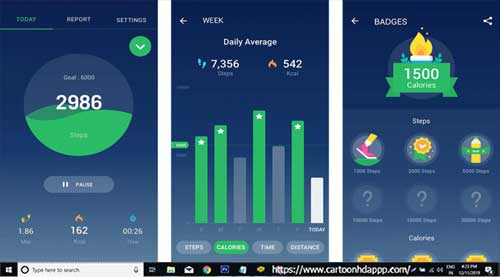 Pedometer For PC Windows 10/8.1/8/7/XP/Vista & Mac Free