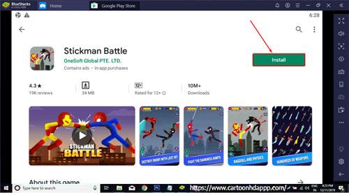 Stickman Battle For PC Windows 10/8.1/8/7/XP/Vista & Mac Free Download