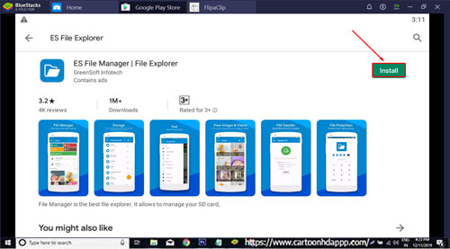 ES File Explorer For PC Windows 10