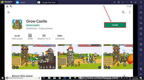 How to Play Grow Castle for PC Windows 10/8.1/8/7/ Mac/XP/Vista Free Download/Install