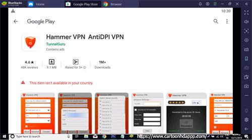 Hammer VPN for PC Windows 10/8.1/8/7/Mac/XP/Vista  Free Download/ Install