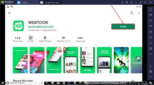WEBTOON Download for PC Windows 10/8.1/8/7/Mac/XP/Vista Free Install