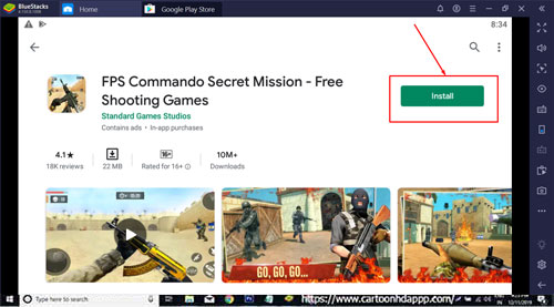 FPS Commando Shooting 3D for PC Windows 10/8.1/8/7/Mac/XP/Vista Free Download/Install