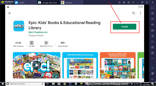 Epic Kids Books For Windows 10, Download for Free