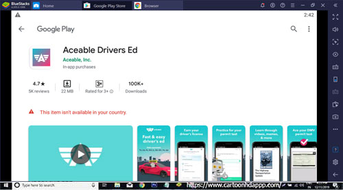 Aceable Drivers Ed for Windows 10