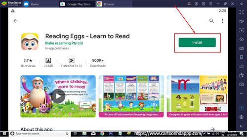 Reading Eggs for Windows 10