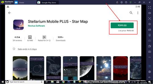 Stellarium Mobile PLUS for Windows 10