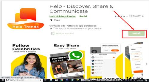 Helo App India for Windows 10