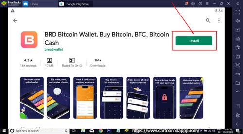 Brid wallet for Windows 10