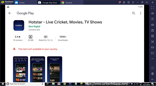 Hotstar Live TV Show for Windows 10